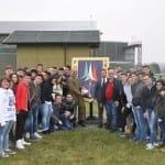 Le Frecce Tricolori e gli studenti del Villaggio dei  Ragazzi