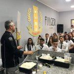 """Studenti dell'Istituto Alberghiero """"Villaggio dei Ragazzi"""": Master Class all'azienda """"Fulgeri"""" con il Maestro Luigi Ricchezza."""